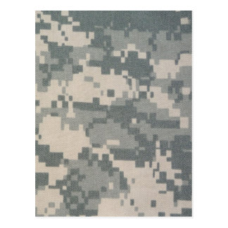 Army Camouflage ACU Pattern Postcard