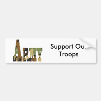 Army camouflage bumper sticker