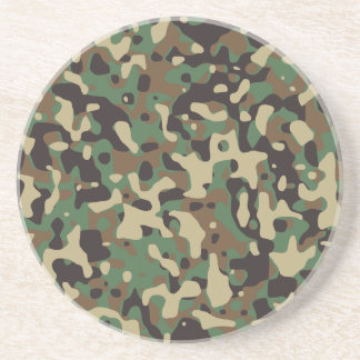 Army camouflage drink coasters