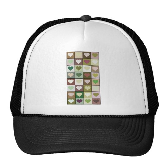 Army camouflage color Heart pattern Trucker Hat