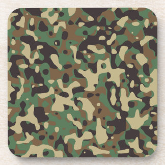 Army camouflage beverage coasters