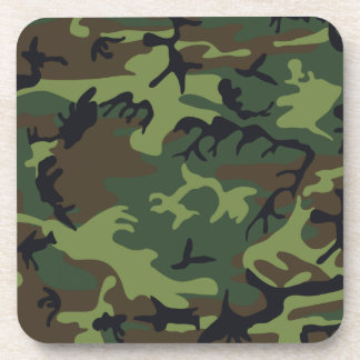 Army camouflage beverage coaster
