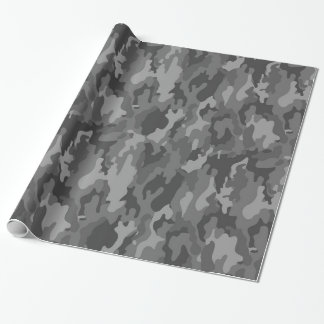 Army Camouflage (Dark Gray Color) Wrapping Paper