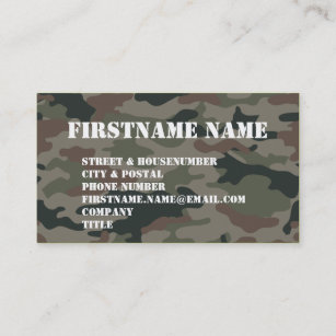 Army business cards 1700 army business card templates army camouflage green brown soldier business card colourmoves