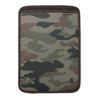 Army Camouflage in Green and Brown Military MacBook Sleeve