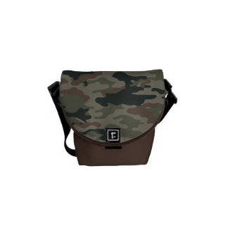 Army Camouflage in Green and Brown Military Messenger Bag