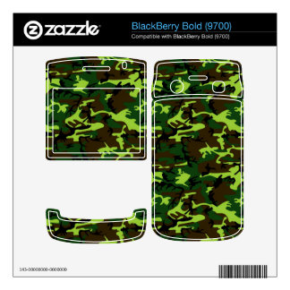 Army Camouflage in Jungle Green ~ Decals For BlackBerry