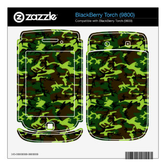 Army Camouflage in Jungle Green ~ BlackBerry Decals