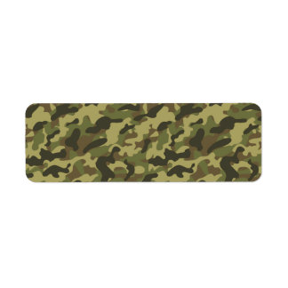 Army Camouflage Label