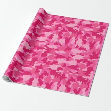 Army Camouflage Pink Pattern Background Wrapping Paper