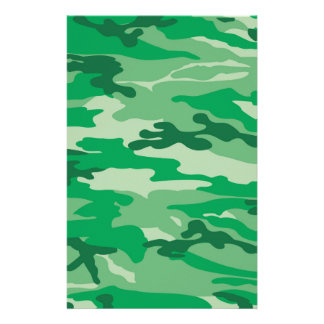 Army camouflage print personalized stationery