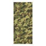 Army Camouflage Rack Card Template