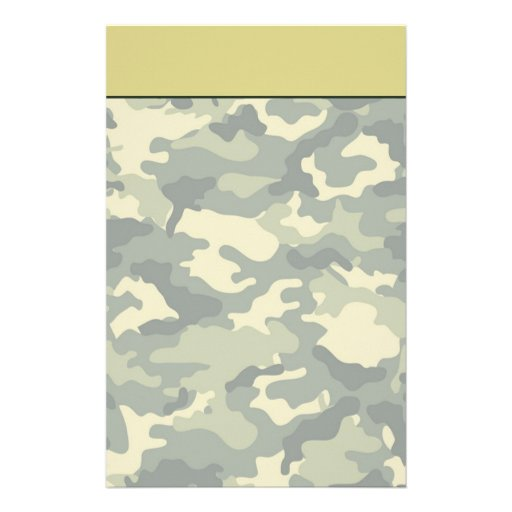 Army Camouflage Stationery