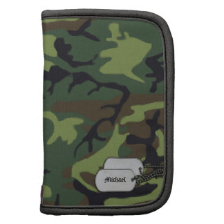 Army Camouflage with Dog Tags Folio Planner