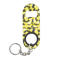 Army Camouflage Yellow Pattern Keychain Bottle Opener