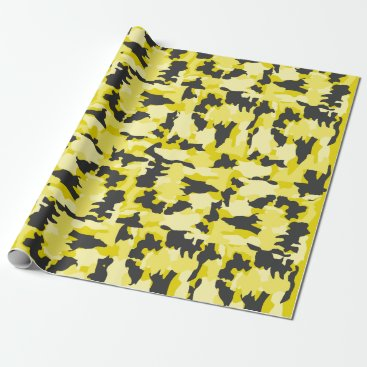 Army Camouflage Yellow Pattern Wrapping Paper