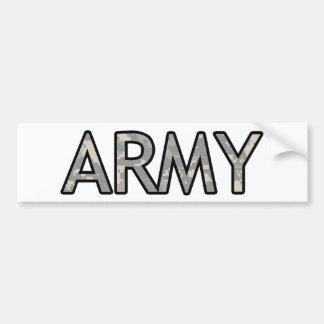 ARMY CAR BUMPER STICKER