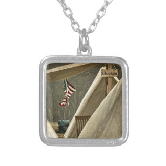 Army Chaplain Silver Plated Necklace