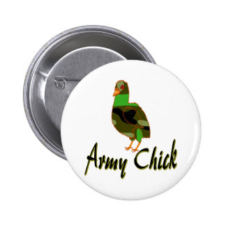 Army Chick Pinback Buttons