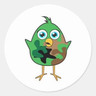 Army Chick Classic Round Sticker