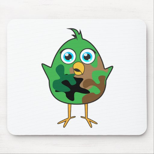 Army Chick Mousepads