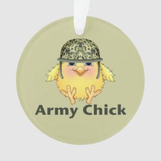 Army Chicks Ornament