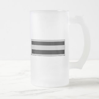 Army Chief Warrant Officer CWO6 Frosted Glass Beer Mug