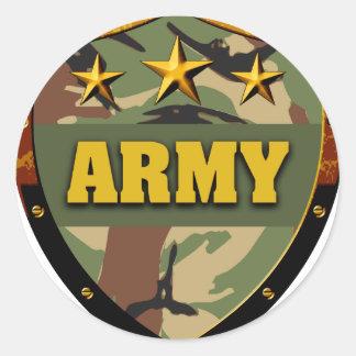 Army Classic Round Sticker