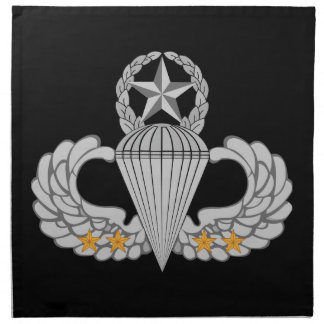 Army Combat Four jump Wings Cloth Napkin