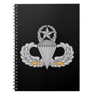 Army Combat Four jump Wings Notebook