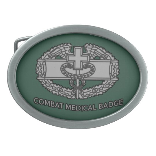 Army Combat Medical Badge Buckle Oval Belt Buckle Zazzle