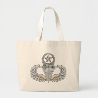 Army Combat Two jump Wings Large Tote Bag