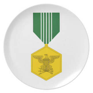 Army Commendation Medal Dinner Plate