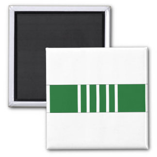 Army Commendation Ribbon 2 Inch Square Magnet