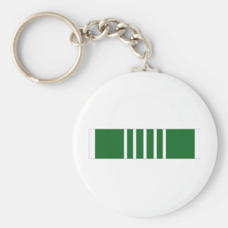Army Commendation Ribbon Basic Round Button Keychain