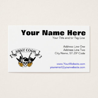 Army Cook Business Card