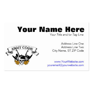 Army Cook Business Cards