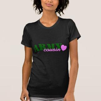 Army Cousin Green Heart T Shirt