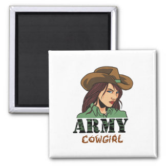 Army Cowgirl Magnet