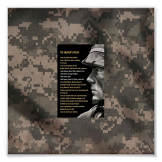 Army creed poster