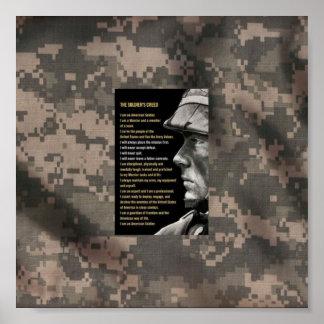 Army creed print