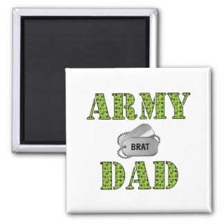 Army Dad 2 Inch Square Magnet