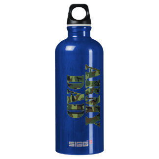 Army Dad Aluminum Water Bottle