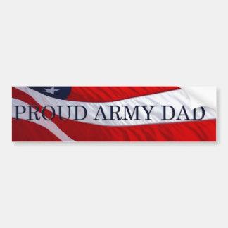 Army Dad American Flag Bumper Sticker