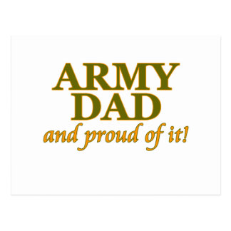 Army Dad and Proud of It Postcard