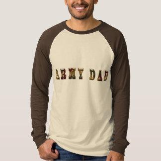 Army Dad Basic Tan/Brown Long Sleeve Raglan T-Shirt