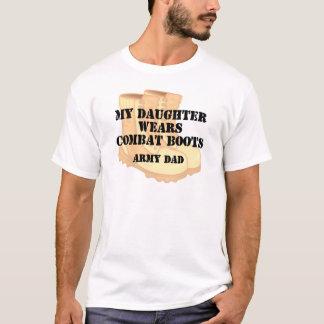 Army Dad Daughter Desert Combat Boots T-Shirt