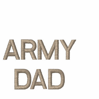 ARMY DAD EMBROIDERED POLO SHIRT