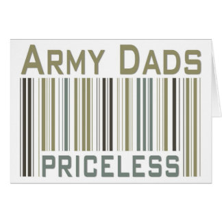 Army Dads Priceless Bar Code Card