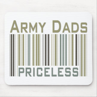 Army Dads Priceless Bar Code Mouse Pad